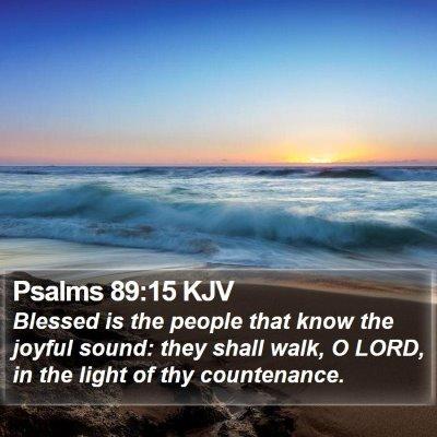 Psalms 89:15 KJV Bible Verse Image