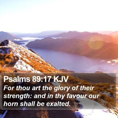 Psalms 89:17 KJV Bible Verse Image