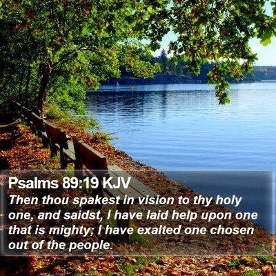 Psalms 89:19 KJV Bible Verse Image
