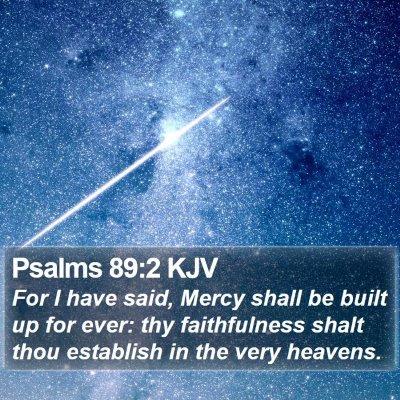 Psalms 89:2 KJV Bible Verse Image