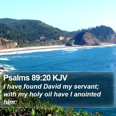 Psalms 89:20 KJV Bible Verse Image