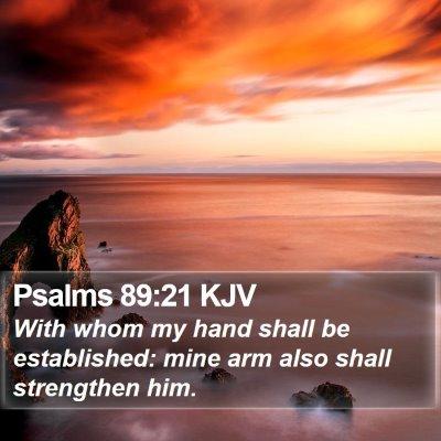 Psalms 89:21 KJV Bible Verse Image