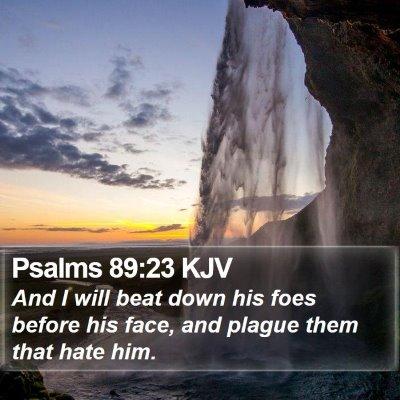 Psalms 89:23 KJV Bible Verse Image