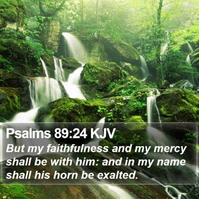 Psalms 89:24 KJV Bible Verse Image