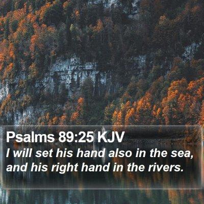 Psalms 89:25 KJV Bible Verse Image