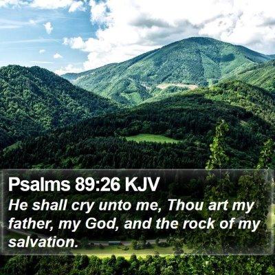 Psalms 89:26 KJV Bible Verse Image
