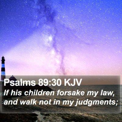 Psalms 89:30 KJV Bible Verse Image