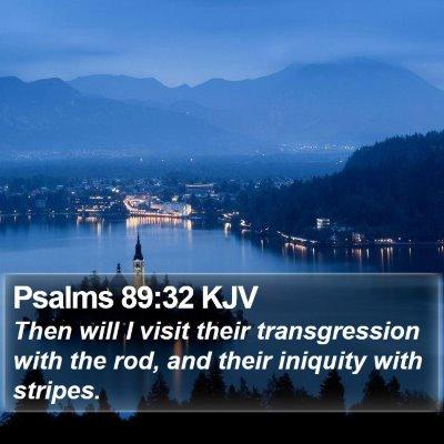 Psalms 89:32 KJV Bible Verse Image