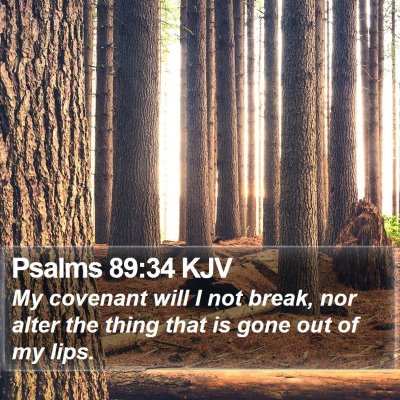 Psalms 89:34 KJV Bible Verse Image