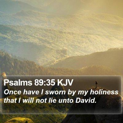 Psalms 89:35 KJV Bible Verse Image