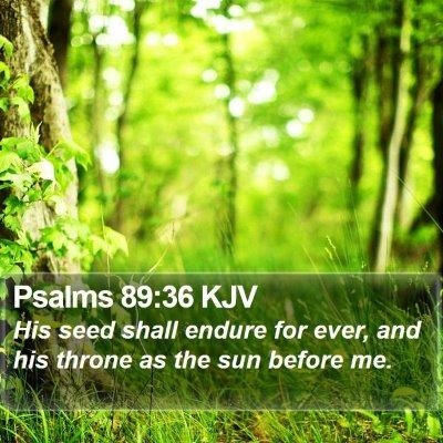 Psalms 89:36 KJV Bible Verse Image