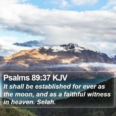 Psalms 89:37 KJV Bible Verse Image