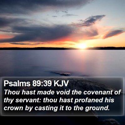 Psalms 89:39 KJV Bible Verse Image
