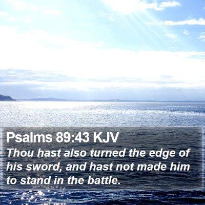 Psalms 89:43 KJV Bible Verse Image