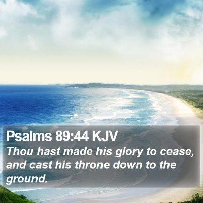 Psalms 89:44 KJV Bible Verse Image