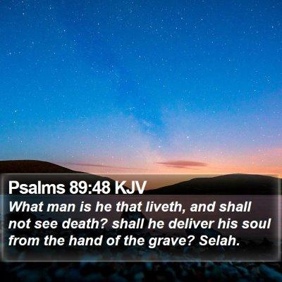 Psalms 89:48 KJV Bible Verse Image