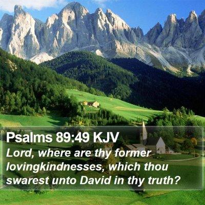 Psalms 89:49 KJV Bible Verse Image