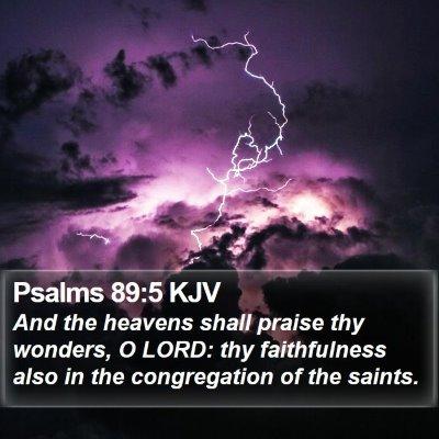 Psalms 89:5 KJV Bible Verse Image