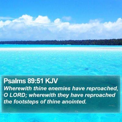 Psalms 89:51 KJV Bible Verse Image
