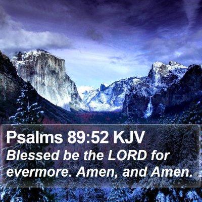 Psalms 89:52 KJV Bible Verse Image