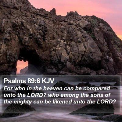 Psalms 89:6 KJV Bible Verse Image