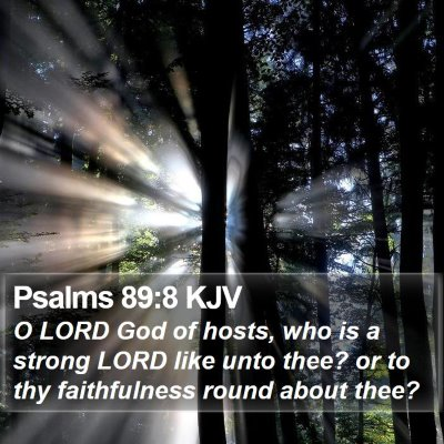 Psalms 89:8 KJV Bible Verse Image