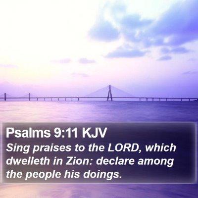 Psalms 9:11 KJV Bible Verse Image