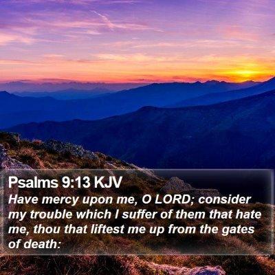 Psalms 9:13 KJV Bible Verse Image