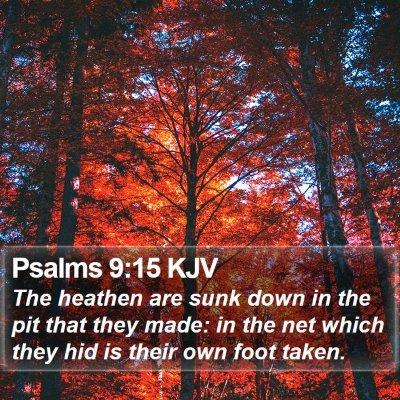 Psalms 9:15 KJV Bible Verse Image