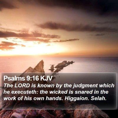 Psalms 9:16 KJV Bible Verse Image