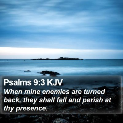 Psalms 9:3 KJV Bible Verse Image