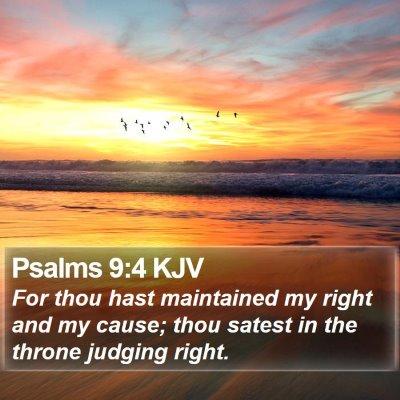 Psalms 9:4 KJV Bible Verse Image