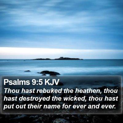 Psalms 9:5 KJV Bible Verse Image