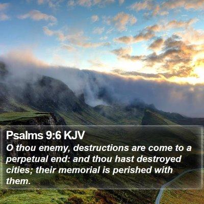 Psalms 9:6 KJV Bible Verse Image