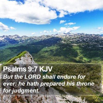 Psalms 9:7 KJV Bible Verse Image