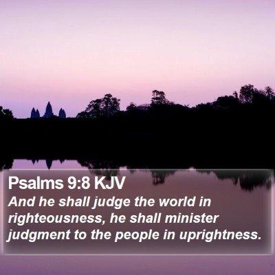 Psalms 9:8 KJV Bible Verse Image