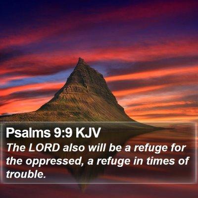 Psalms 9:9 KJV Bible Verse Image