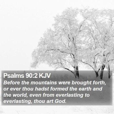 Psalms 90:2 KJV Bible Verse Image