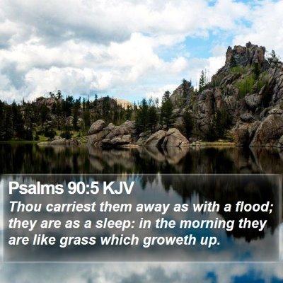 Psalms 90:5 KJV Bible Verse Image