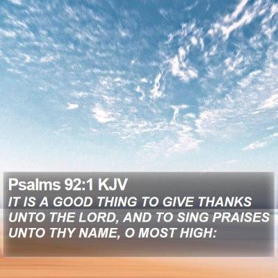Psalms 92:1 KJV Bible Verse Image