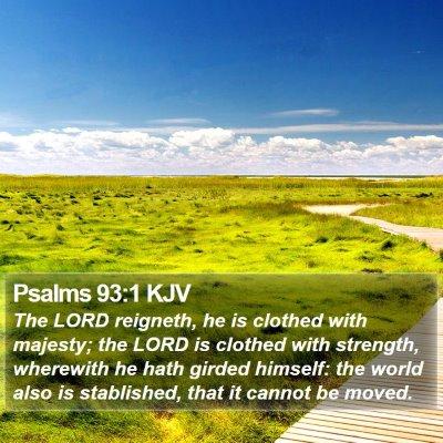 Psalms 93:1 KJV Bible Verse Image