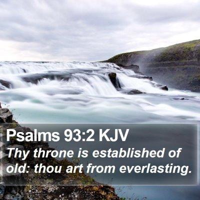 Psalms 93:2 KJV Bible Verse Image