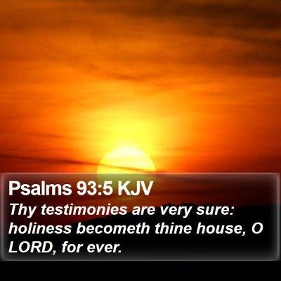 Psalms 93:5 KJV Bible Verse Image