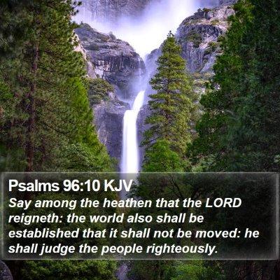 Psalms 96:10 KJV Bible Verse Image