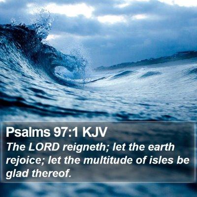 Psalms 97:1 KJV Bible Verse Image