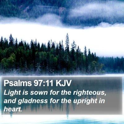 Psalms 97:11 KJV Bible Verse Image