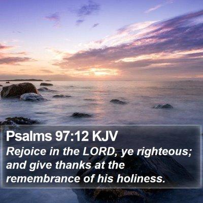 Psalms 97:12 KJV Bible Verse Image