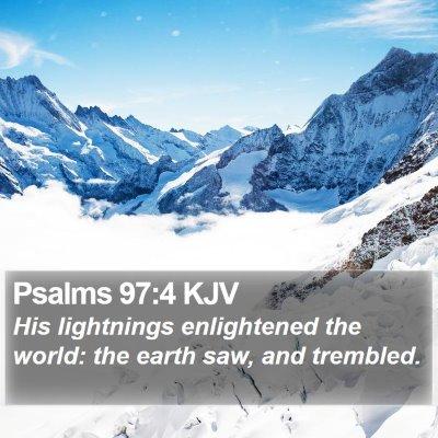 Psalms 97:4 KJV Bible Verse Image