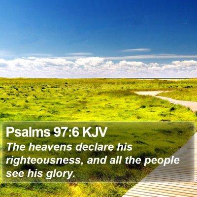 Psalms 97:6 KJV Bible Verse Image