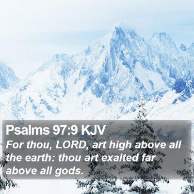 Psalms 97:9 KJV Bible Verse Image